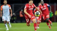 Le milieu de Dijon Kwon lors du match contre Montpellier à Gaston-Gérard, le 13 janvier 2019  [ROMAIN LAFABREGUE / AFP/Archives]