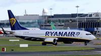 Un avion de la compagnie à bas coût Ryanair sur le tarmac de l'aéroport de Dublin, le 21 septembre 2017 [Paul FAITH / AFP/Archives]