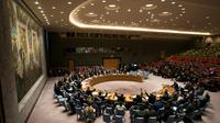 Le Conseil de sécurité de l'ONU réuni pour un vote sur un cessez-le-feu humanitaire d'un mois en Syrie, le 24 février 2018 à New York [Don EMMERT / AFP]
