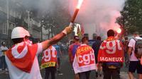 ILLUSTRATION - Manifestation de fonctionnaires et d'employés du secteur public à Paris, le 22 mai 2018 [Bertrand GUAY / AFP/Archives]