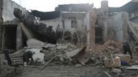 Une maison détruite dans la ville syrienne rebelle de Douma, près de Damas, le 30 décembre 2016  [Abd Doumany / AFP]