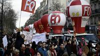 Manifestation à l'appel de FO et de la CGT le 19 mars 2019 à Paris [Philippe LOPEZ / AFP]