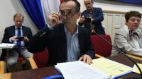 Le maire de Béziers, Robert Ménard, le 18 octobre 2016, lors d'un conseil municipal [SYLVAIN THOMAS / AFP/Archives]