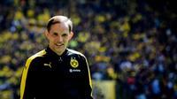 L'entraîneur allemand Thomas Tuchel alors en charge du Borussia Dortmund, avant un match contre le Werder Breme, le 20 mai 2017 dans la Ruhr  [SASCHA SCHUERMANN / AFP]