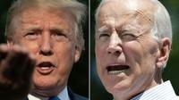 Le président américain Donald Trump et le candidat à la primaire démocrate Joe Biden  [Jim WATSON, Dominick Reuter / AFP]