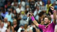 Le Suisse Stan Wawrinka juste après la balle de match, le 11 septembre à l'US Open [Jewel SAMAD / AFP]