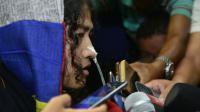 La militante indienne des droits de l'Homme, Irom Sharmila, le 9 août 2016 à Imphal en Inde [Biju BORO / AFP]