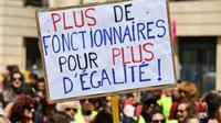 Manifestation contre le projet de réforme de la fonction publique, à Marseille, le 9 mai 2019 [Pascal GUYOT / AFP/Archives]