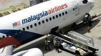 Un avion de la Malaysia Airlines sur le tarmac de l'aéroport de Kuala Lumpur, à 50 km au sud de la ville, le 25 février 2016 [MANAN VATSYAYANA / AFP/Archives]