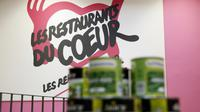 Un local des Restos du Cœur à Paris, le 25 novembre 2013 [PATRICK KOVARIK / AFP/Archives]