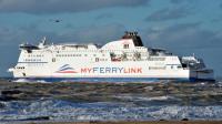 """Le ferry """"Le Berlioz"""" de la compagnie MyFerryLink dans le port de Calais le 4 novembre 2012 [Philippe Huguen / AFP/Archives]"""
