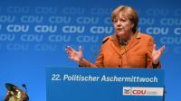 Angela Merkel, le 1er mars 2017, à Demmin [Stefan Sauer / dpa/AFP/Archives]