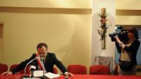 Robert Ménard, maire de Béziers, lors de son premier conseil municipal, le 4 avril 2014 [Sylvain Thomas / AFP/Archives]