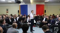 Emmanuel Macron à Evry-Courcouronnes (Essonne), le 4 février  2019 [Ludovic MARIN / POOL/AFP]