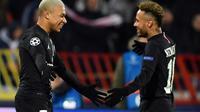 Les deux stars du PSG, Neymar et Mbappé, lors du match de Ligue des champions face à Belgrade le 11 décembre 2018  [Andrej ISAKOVIC / AFP/Archives]