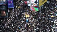 Manifestation pour la démocratie, à Hong Kong le 21 juillet 2019 [Anthony WALLACE / AFP/Archives]