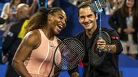 Federer l'emporte sur Williams dans un double mixte lors de la Hopman Cup à Perth le 31 décembre 2018 [TONY ASHBY / AFP]
