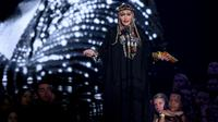 Madonna rend hommage à Aretha Franklin lors des MTV Music Awards à New York, le 20 août 2018 [Theo Wargo / GETTY IMAGES NORTH AMERICA/AFP]