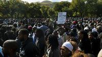 Manifestation de Noirs à Washington pour réclamer plus de justice, le 10 octobre 2015 [Andrew Caballero-Reynolds / AFP]