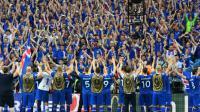 Les joueurs islandais après leur victoire face à l'Autriche lors de l'Euro-2016 [FRANCK FIFE / AFP]