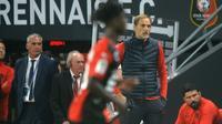 L'entraîneur du PSG Thomas Tuchel durant la défaite concédée à Rennes au Roazhon Park, le 18 août 2019 [JEAN-FRANCOIS MONIER                 / AFP]