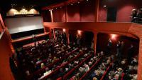 """Cérémonie d'inauguration lors de la réouverture de la plus vieille salle de cinéma du monde """"L'Eden"""" le 9 octobre 2013 à La Ciotat [Anne-Christine Poujoulat / AFP/Archives]"""