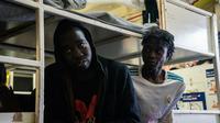 Des migrants secourus en Méditerranée à bord du navire humanitaire Sea Watch 3, le 5 janvier 2019 [FEDERICO SCOPPA / AFP]