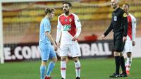 La recrue de l'AS Monaco Cesc Fabregas lors du match perdu en Coupe de France face à Metz, le 22 janvier 2019 à Louis-II [VALERY HACHE / AFP]
