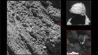 Le robot Philae, dont on avait perdu la trace sur la comète Tchouri après son atterrissage mouvementé en novembre 2014, a été localisé par une caméra de la sonde Rosetta début septembre 2016 [HO / Agence spatiale européenne (ESA)/AFP/Archives]