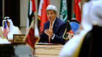 Le secrétaire d'Etat américain John Kerry le 7 avril 2016 à Manama [JONATHAN ERNST / POOL/AFP]