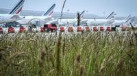 Air France-KLM a été lourdement affectée par les grèves du printemps [STEPHANE DE SAKUTIN / AFP/Archives]