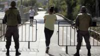 Des garde-frontières montent la garde près d'un jardin public de Jérusalem-Ouest, le 14 octobre 2015 [THOMAS COEX / AFP/Archives]