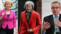 De g à d: Andrea Leadsom,  Theresa May, Michael Gove [Ben STANSALL, Niklas HALLE'N, CHRIS J RATCLIFFE / AFP/Archives]