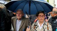 Les parents du tétraplégique Vincent Lambert, son Pierre Pierre Lambert et sa mère Viviane Lambert, arrivant à l'hôpital à l'hôpital Sébastopol à Reims le 19 mai 2019  [FRANCOIS NASCIMBENI / AFP]