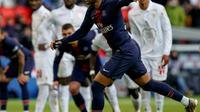 L'attaquant du PSG Neymar buteur lors du match nul 1-1 à domicile face à Nice le 4 mai 2019 [Lionel BONAVENTURE / AFP]
