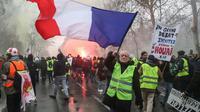 """Manifestation des """"gilets jaunes"""", le 19 janvier 2019 à Paris [Zakaria ABDELKAFI / AFP]"""