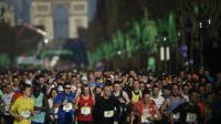 Départ de la 40e édition du Marathon de Paris sur les Chapms-Elysées, le 3 avril 2016  [MARTIN BUREAU / AFP]