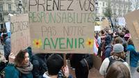"""Economistes, chercheurs, industriels... Des personnalités internationales se retrouvent lundi à Paris pour la première réunion du """"One Planet Lab"""", laboratoire d'idées lancé par Emmanuel Macron pour faire avancer la transition écologique [JACQUES DEMARTHON / AFP/Archives]"""