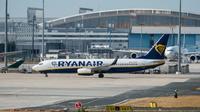 Un avion de la compagnie aérienne irlandaise  Ryanair sur le tarmac à l'aéroport de Francfort (Allemagne), le 11 septembre 2018 [Silas Stein / dpa/AFP]