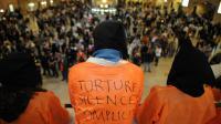 Manifestation contre la torture à Guantanamo, dans une gare de New York le 28 mai 2009 [Stan Honda / AFP/Archives]
