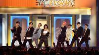 Le groupe de K-pop coréen BTS sur scène à Las Vegas, le 1er mai 2019 [Ethan Miller / GETTY IMAGES NORTH AMERICA/AFP]