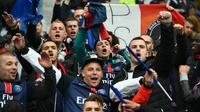 Supporteurs du PSG lors de la finale de la Coupe de la Ligue face à Lille au Stade de France, le 23 avril 2016  [FRANCK FIFE / AFP/Archives]