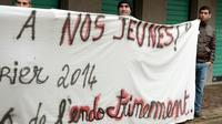 Manifestation à Strasbourg contre l'endoctrinement d'adolescents afin de les envoyer combattre en Syrie, le 8 février 2014 [FREDERICK FLORIN / AFP/Archives]