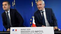 Bruno Le Maire et Gérald Darmanin à Paris le 26 septembre 2019 [Bertrand GUAY / AFP]