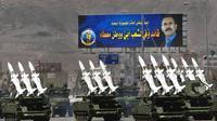 Des missiles anti-aérien lors d'un défilé à Sanaa, le 22 mai 2000 [RABIH MOGHRABI / AFP/Archives]