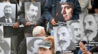 Une commémoration du 97e anniversaire du génocide arménien le 14 avril 2012 place Taksim, à Istanbul, en Turquie [Bulent Kilic / AFP/Archives]