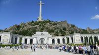 """Le mausolée """"La Valle de los Caidos"""" à San Lorenzo del Escorial près de Madrid où repose la dépouille de Franco, le 15 juillet 2018 [JAVIER SORIANO / AFP/Archives]"""