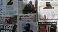 La «Une» des quotidiens britanniques en date du 27 février 2015 montrant «Jihadi John» [Daniel Sorabji / AFP]