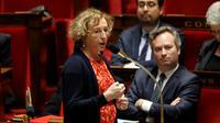"""La ministre du Travail Muriel Pénicaud, ici le 22 novembre 2017 à l'Assemblée, et la majorité ont martelé leur """"confiance""""dans le dialogue social [FRANCOIS GUILLOT / AFP/Archives]"""
