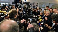Jean-Pierre Masseret, candidat PS en Alsace-Lorraine-Champagne-Ardenne, lors d'une conférence de presse à Metz, le 7 décembre 2015  [JEAN-CHRISTOPHE VERHAEGEN / AFP]